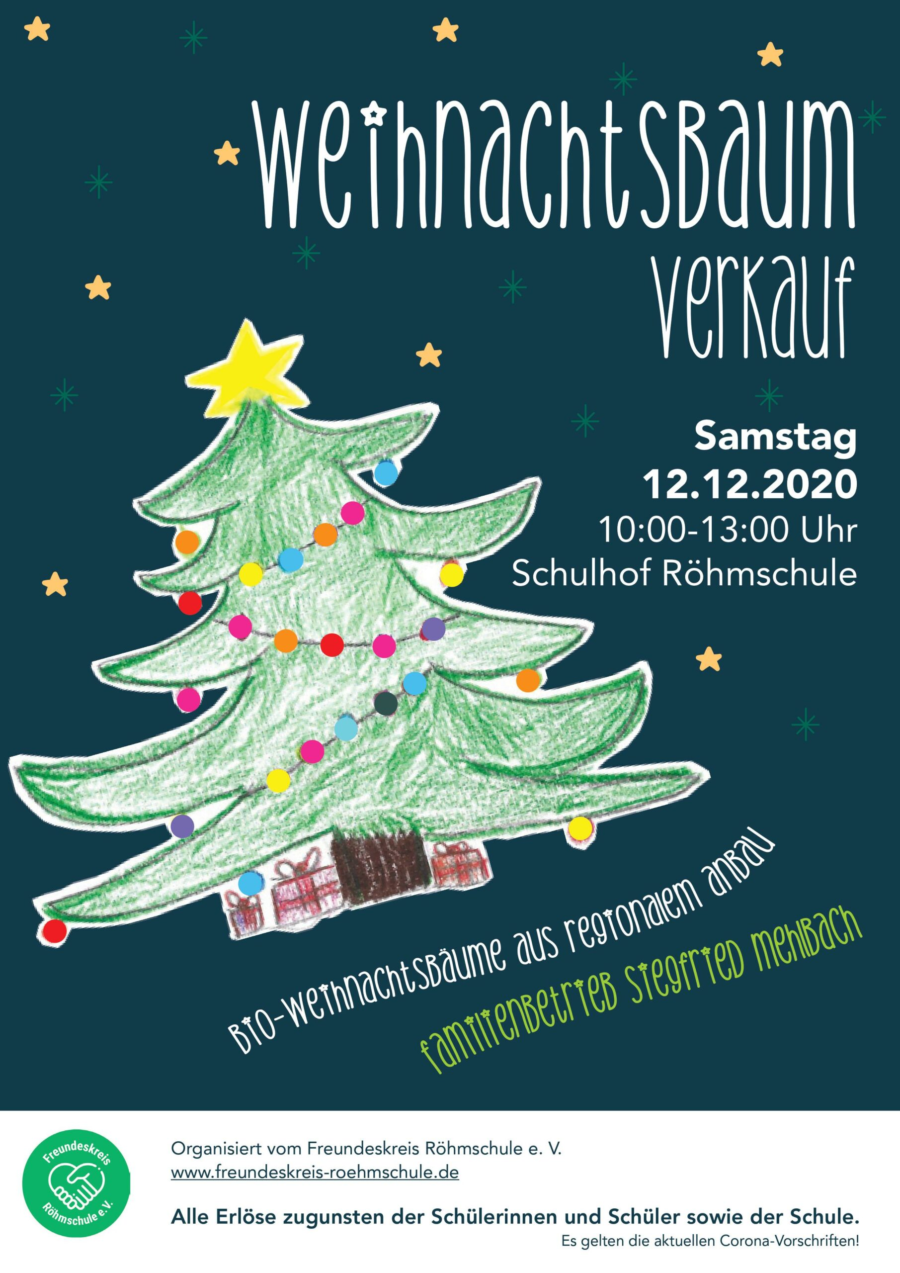 Plakat Weihnachtsbaumverkauf 2020